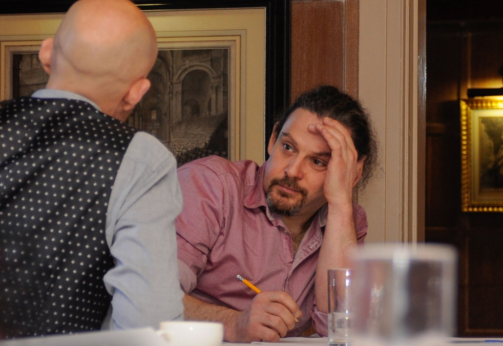 David listening